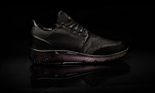 Mercer Amsterdam Just Unveiled Its Latest Blacked-Out Knitted Sneaker