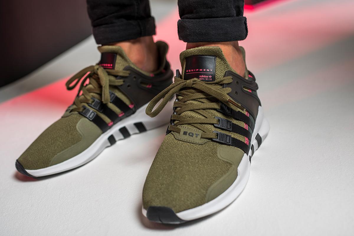 adidas originals eqt support adv green