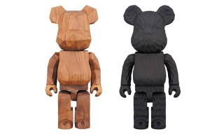 fragment design and Medicom Toy Team up on These Incredible Carved Wooden Bearbricks