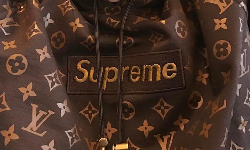 Cruz Beckham Wears A Louis Vuitton X Supreme Hoodie That