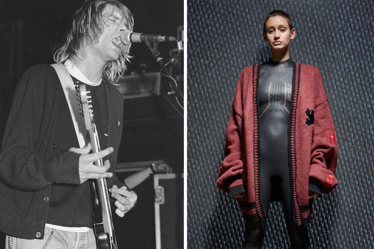 10 Current Fashion Trends That Kurt Cobain Did First Highsnobiety Sweater Typisch Original