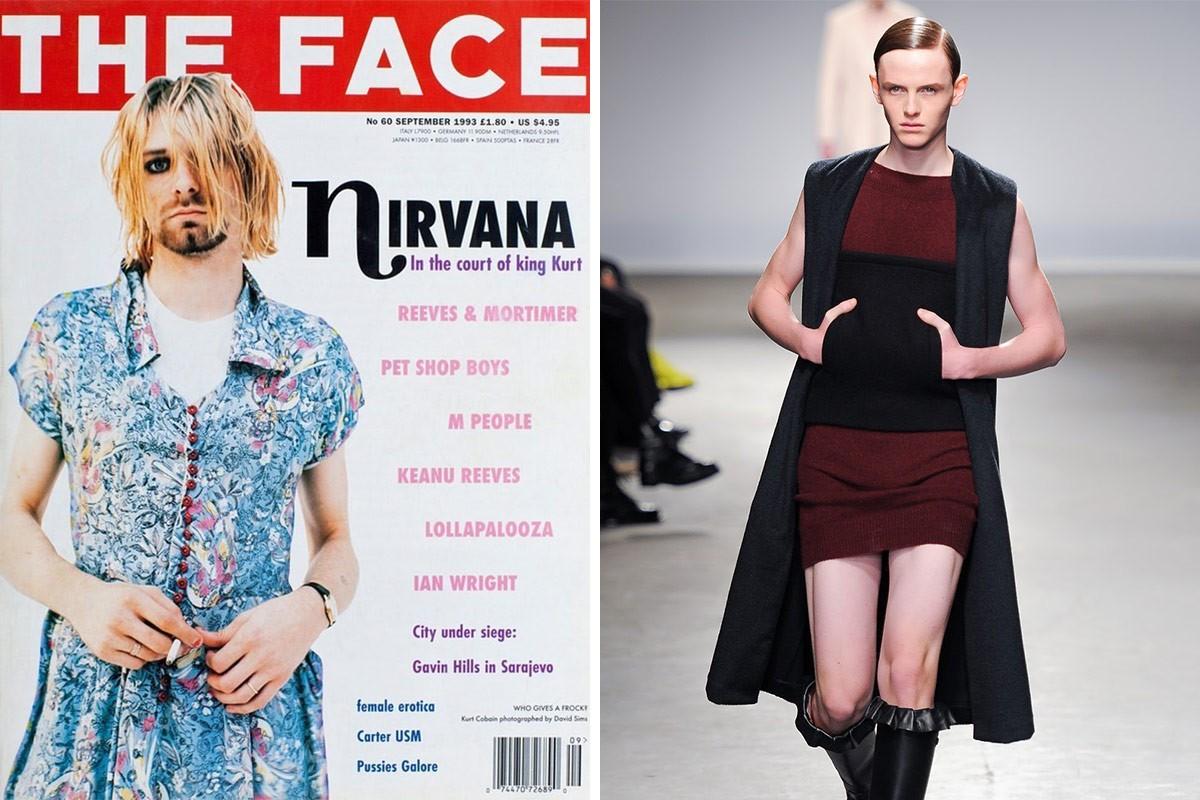 b29e9007d6 celeb news  10 Current Fashion Trends That Kurt Cobain did first ...