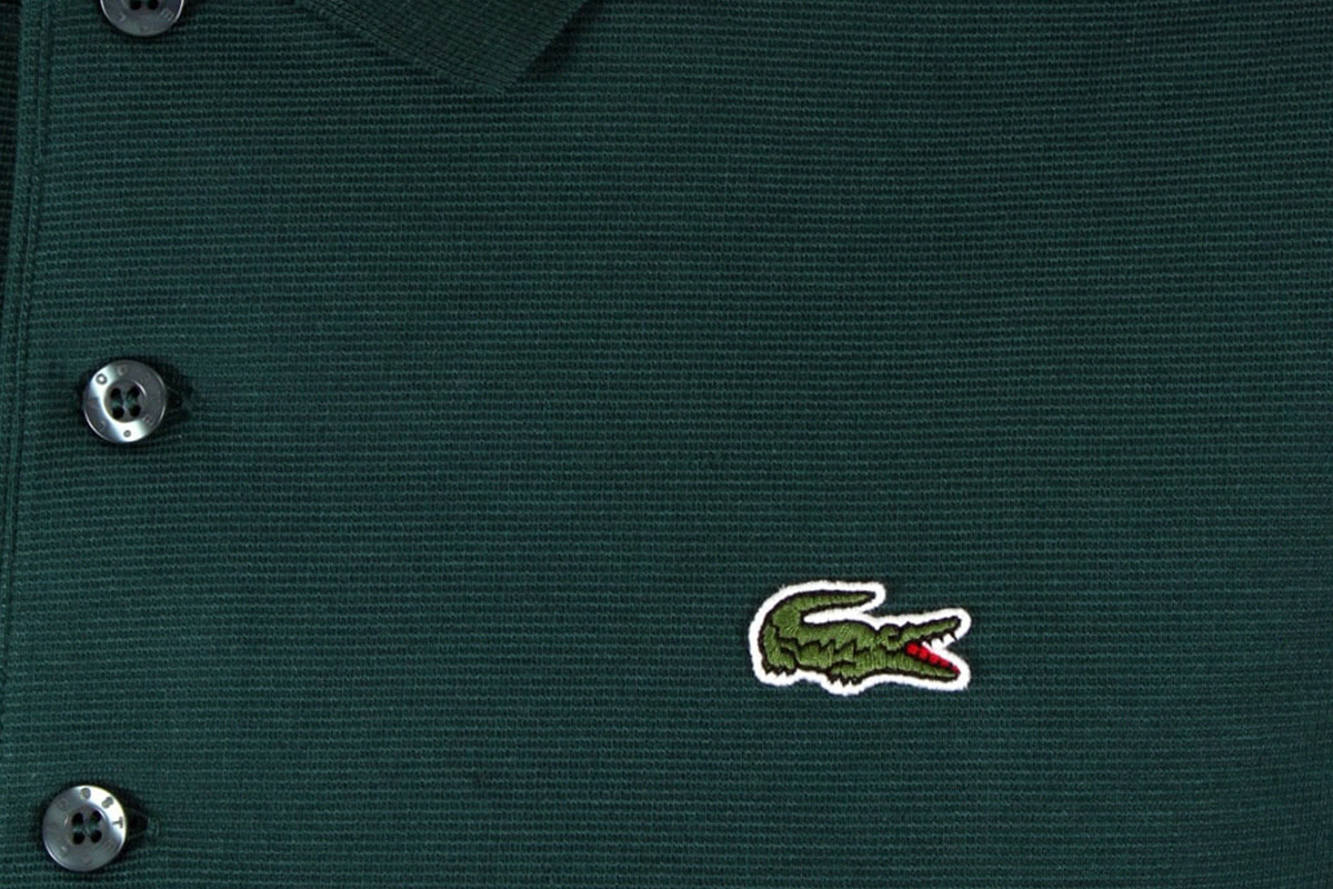 big lacoste logo polo