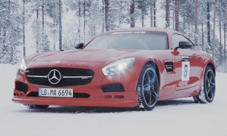 Here's What Happened When IWC Invited Us to Drift a Mercedes-AMG Across Ice and Snow in Sweden