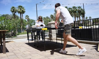 Your New Summer Sneaker: Reebok's Classic Leather Stood Tall at Coachella Valley's Classics Crib