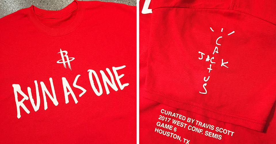 Travis Scott Designs Limited Edition Houston Rockets T Shirt