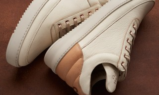 Filling Pieces and Caliroots Drop Solid Veg-Tanned Leather Low Tops for Summer