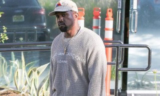 Kanye Flexes in Shia LaBeouf's Hat, a Grailed CDG Sweater & YEEZY Runners
