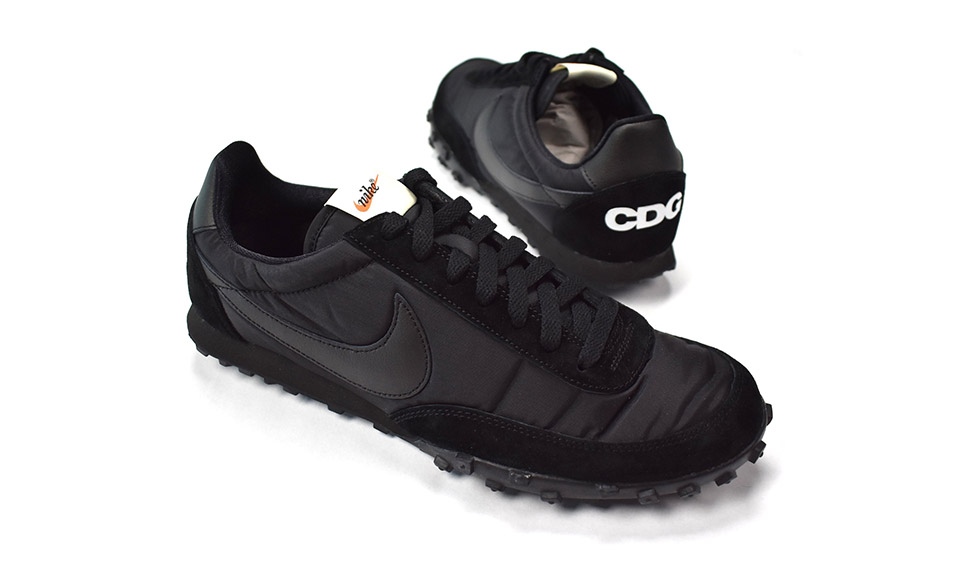 7492bef2ab5736 COMME des GARÇONS  Black Nike Waffle Racer Is Now Available