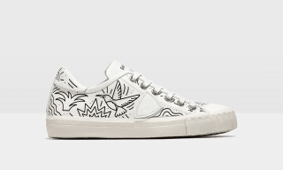 This Dutch Illustrator Doodled on Some Clean, All-White Parisian Sneakers & We're Loving Them