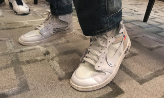 An Unreleased All-White Virgil Abloh x Nike Air Jordan 1 Surfaces Online
