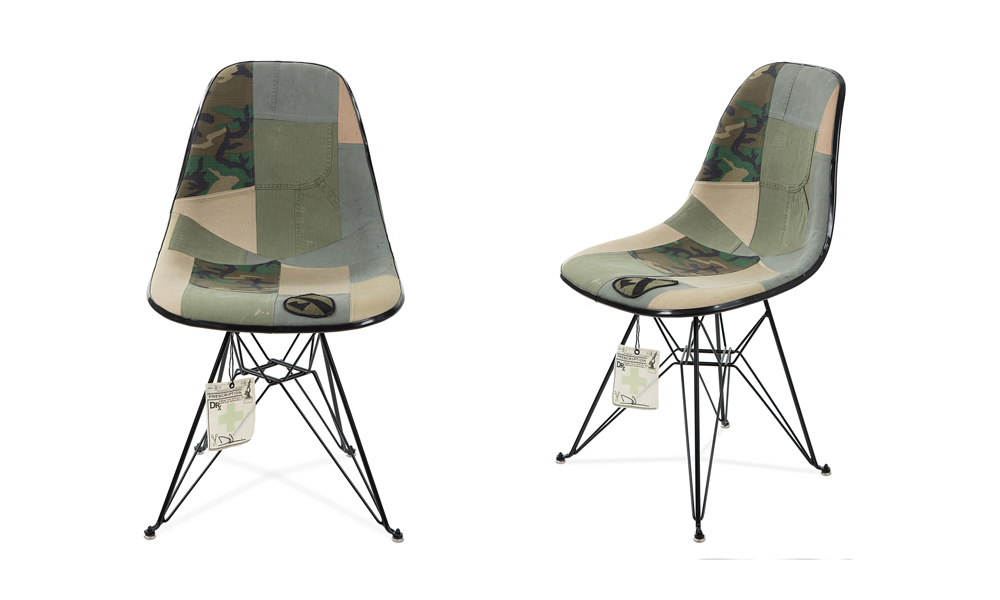 modernica & drx romanelli's new chair is the perfect camo cop