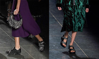 Christopher Kane Sent Crystal-Studded Orthopedic Shoes Down the Runway