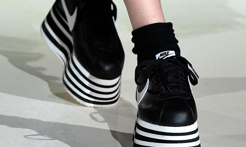 COMME des GARÇONS Reveals New FW18 Platform Nike Cortez at PFW ff4e0fbf4a