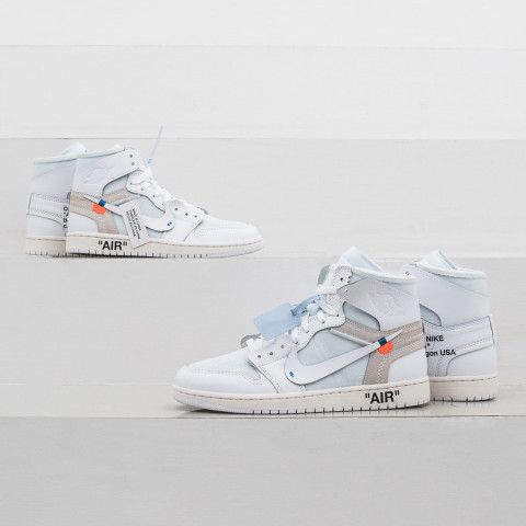 """b8ed25dc82578a Miss out on the OFF-WHITE x Nike Air Jordan 1 """"All White"""" last weekend   We ve teamed up with the sneaker and streetwear retailer KICKZ to give away  one ..."""