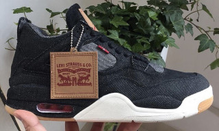 Here's Your First Look at the Levi's x Air Jordan IV in Black