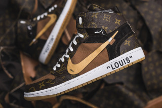 9a6f8f18aff These Louis Vuitton OFF–WHITE x Nike Air Jordan 1s Are Next Level