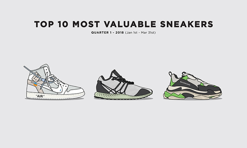 The 10 Most Valuable Sneakers of 2018 So Far