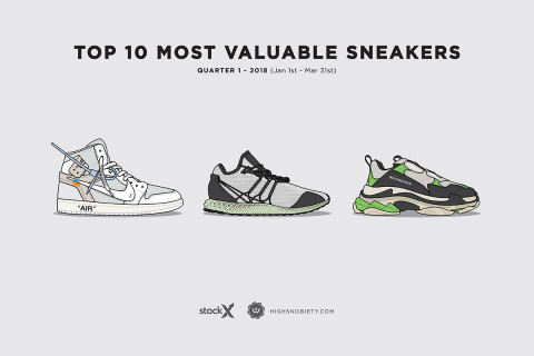 The 10 Most Valuable Sneakers Of 2018 Q1