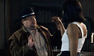 James Corden Parodies Kanye West's Tweets in 'Westworld' Skit