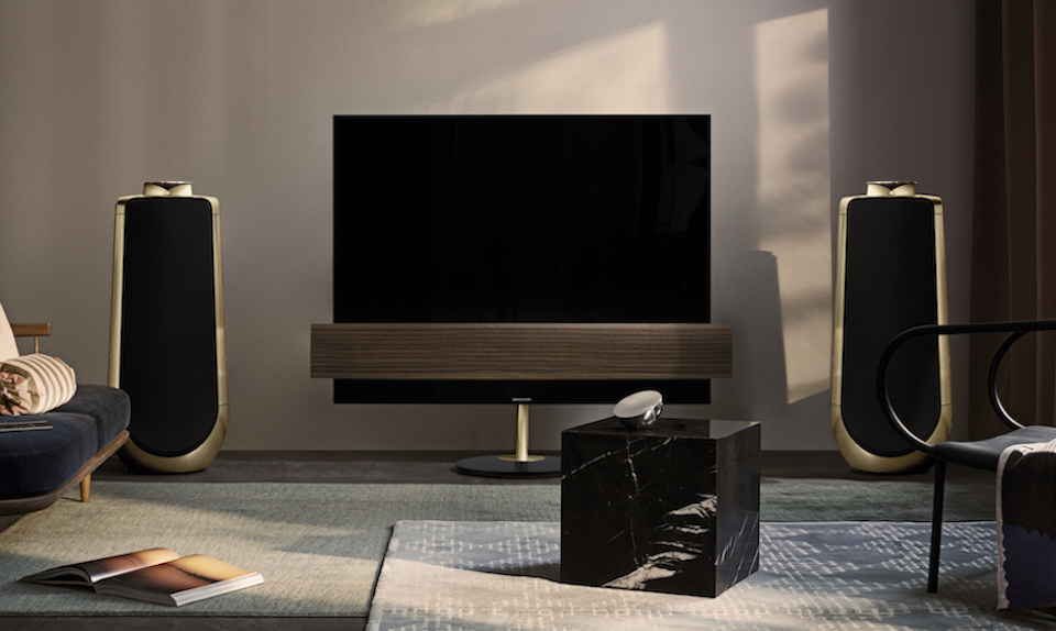 bang olufsen unveils luxe 4k oled tv beolab 50 speaker. Black Bedroom Furniture Sets. Home Design Ideas