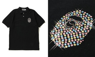 dfff00902c97 BAPE Drops New Ape Head Polo With Swarovski Crystals. Style