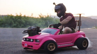 These Guys Put A Real Engine In Power Wheels Barbie Car