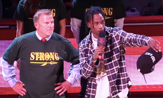 Travis Scott Honors Santa Fe School Shooting Survivors at Houston Rockets Game