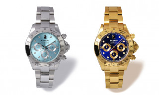 BAPE's BAPEX Type-3 Watch Returns in Luxe Gold & Silver