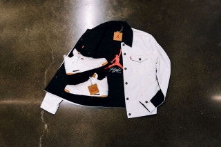 ef50dd2c87f Jordan Brand Debuts Levi s x Air Jordan 4 Trucker Jackets in Black   White  Denim