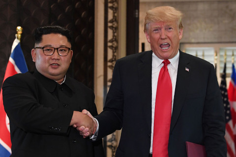 Following one-on-one talks, Kim says he and Trump made an