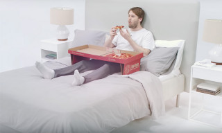 This Pizza Box Is Designed for Eating Pizza in Bed