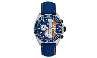 TAG Heuer Celebrates 50th Anniv. of Gulf Victory With Formula 1 Gulf Special Edition