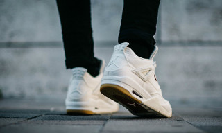 Here's an On-Feet Look at the White Levi's x Air Jordan 4