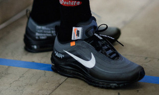 "OFF-WHITE Gives Us a Closer Look at Its Nike Air Max 97 ""Black"""