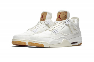 Here s How   Where to Buy the White Levi s x Air Jordan 4 on June 30. By  Fabian Gorsler in Sneakers ... d54b5c1b64