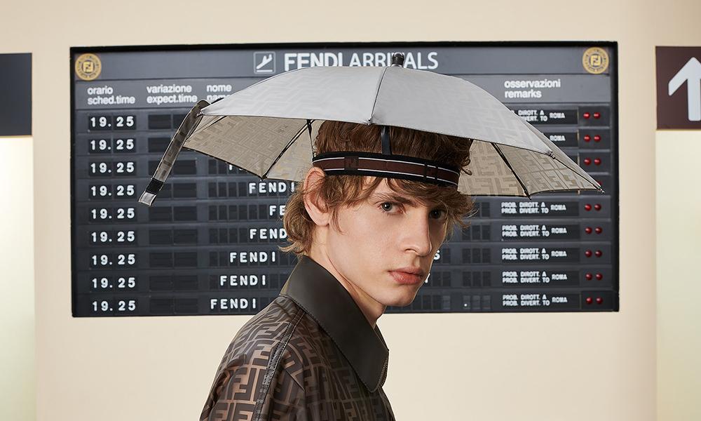 Good News  You Can Still Cop Fendi s High-Fashion Umbrella Hat 672a0eff3a4