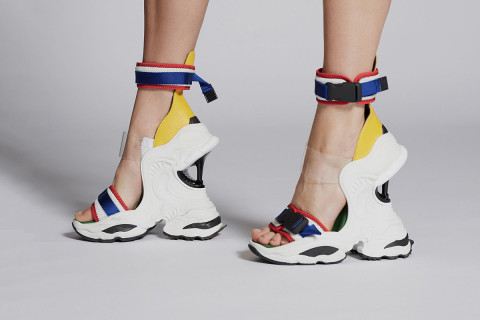 Dsquared2 S Quot The Giant Quot High Heel Wedges Killed Dadcore