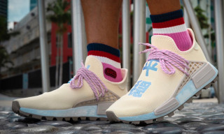 An On-Foot Look at the Cream N*E*R*D* Pharrell x adidas Originals NMD Hu