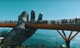 Vietnam's Monumental Golden Bridge Is Held Up by Giant Stone Hands