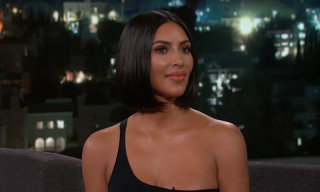 Kim Kardashian Talks Naked Phone Calls with Trump & Kanye's Politics on 'Kimmel'
