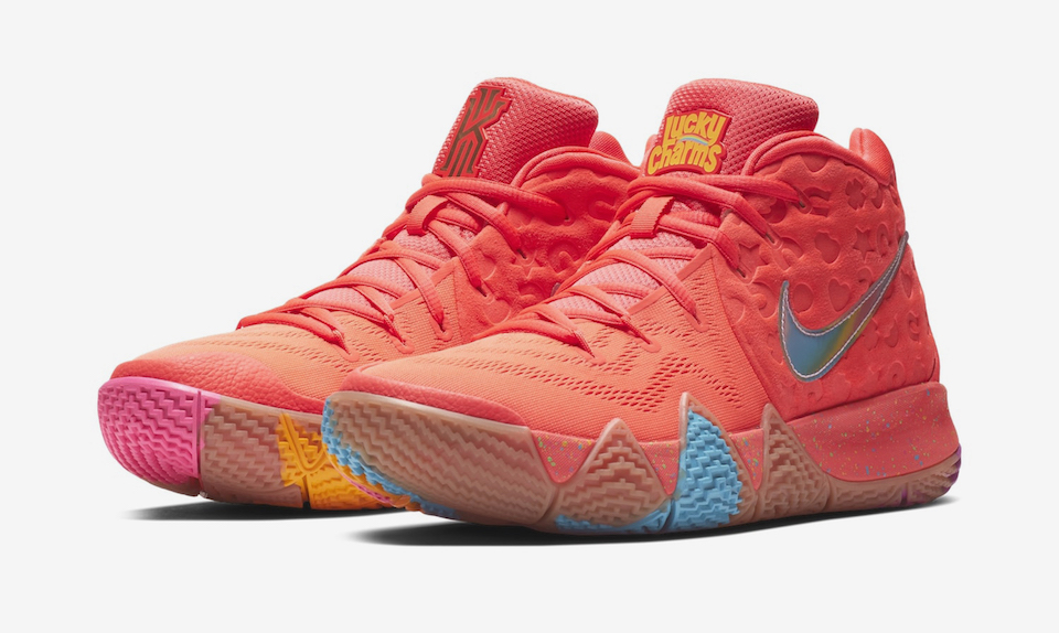 size 40 02c94 fcc71 order pink yellow mens nike kyrie 4 shoes 86c31 5a7a4