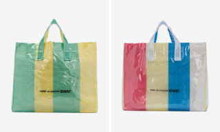 CdG SHIRT's Colorful PVC Tote Bag Is Back In Stock
