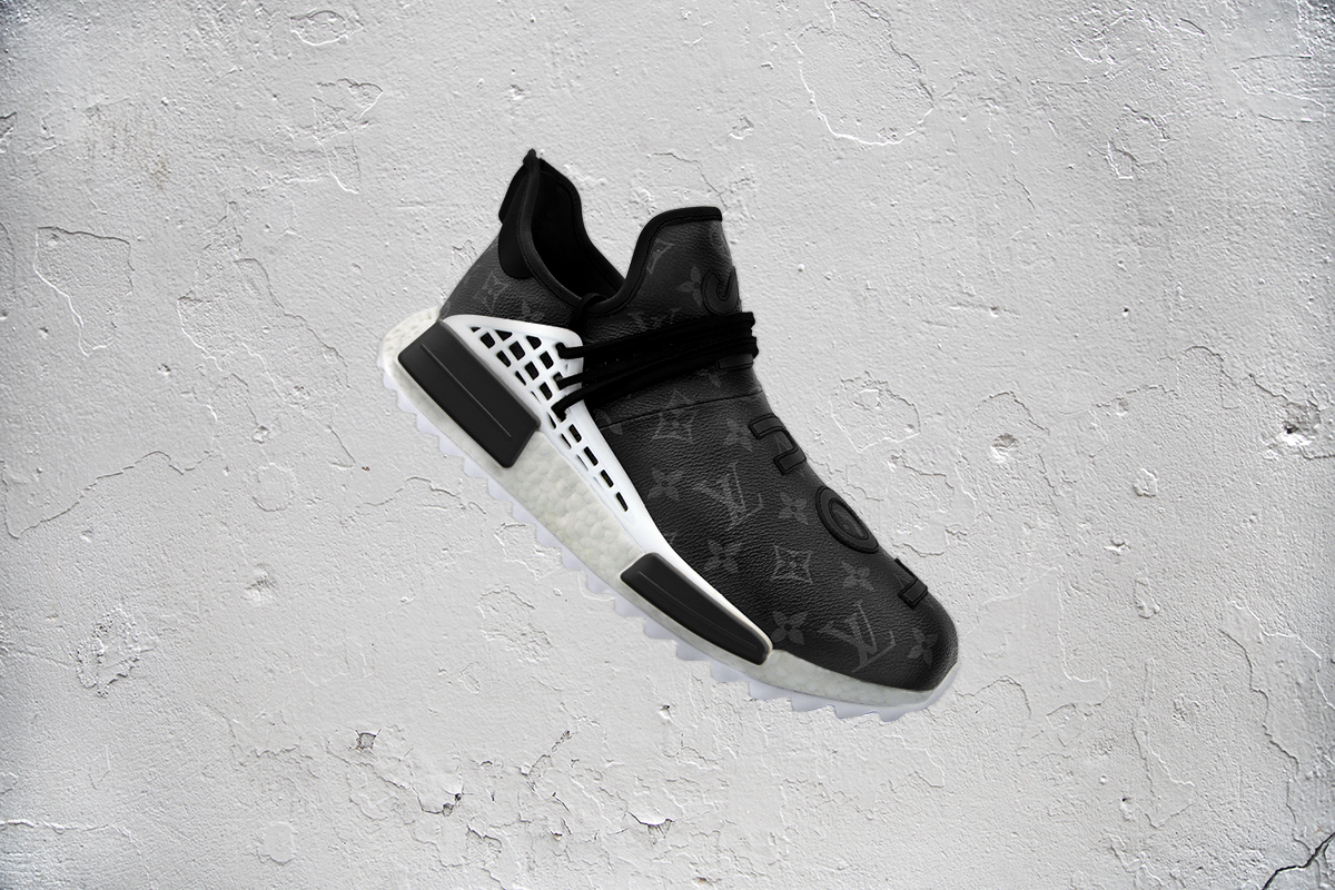 brand new b585d 0b3d1 Louis Vuitton Print Takes Over These Custom Human Race NMDs ...