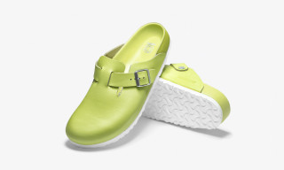 Here's How to Cop Concepts & Birkenstock's Lime Grooved Leather Boston Slide