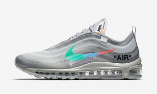 "New Images of the OFF-WHITE x Nike Air Max 97 ""Menta"" Surface Online"