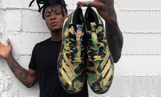 Your First Look at the BAPE x adidas Football Cleat