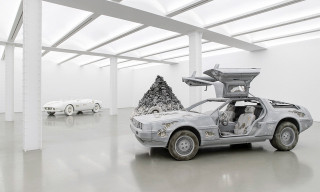 Daniel Arsham Unveils Eroded 1961 Ferrari 250GT California & DeLorean DMC-12