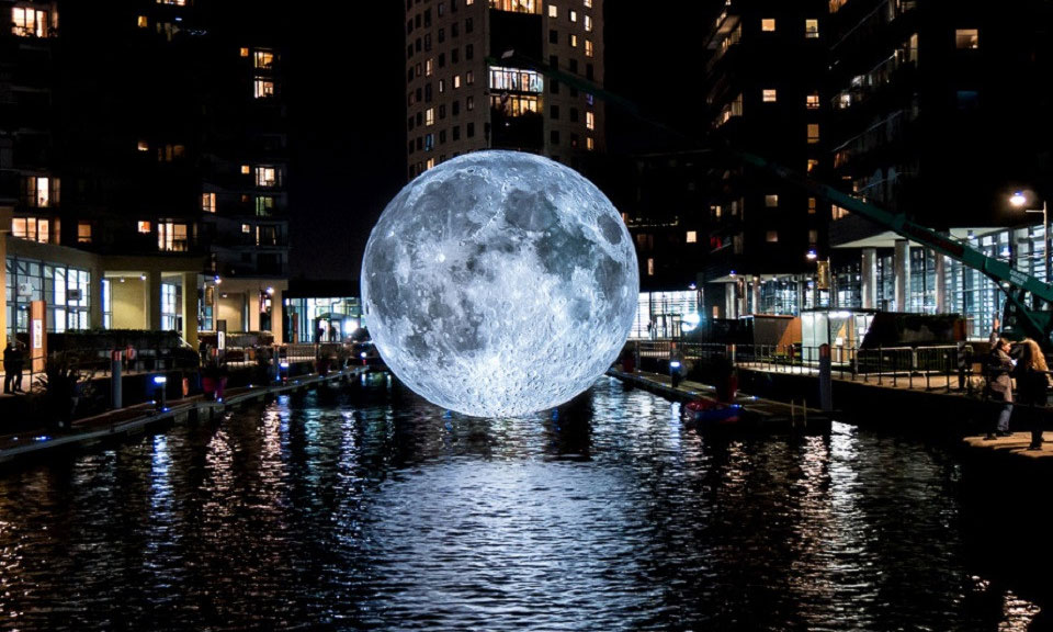 This Huge 23 Foot Moon Replica Is Currently Touring The World