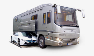 This Insane German RV Has a Hidden Sports Car Slot